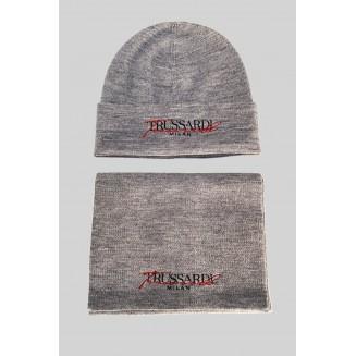 Комплект (шапка+шарф) Trussardi Jeans 59Y00011-9Y099999-E724 Grey/black/orange