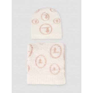 Комплект (шапка+шарф) Trussardi Jeans 59Y00006-9Y099999-W603 White/nude